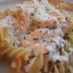 Fusilli with Creamy Basil Sauce