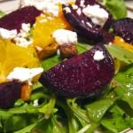 Roasted Beet & Arugula Salad with Citrus Vinaigrette