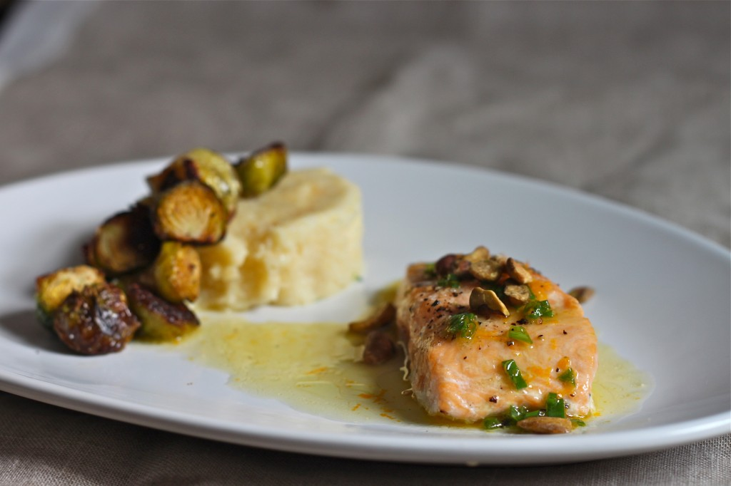 Arctic Char with Orange Pistachio Vinaigrette