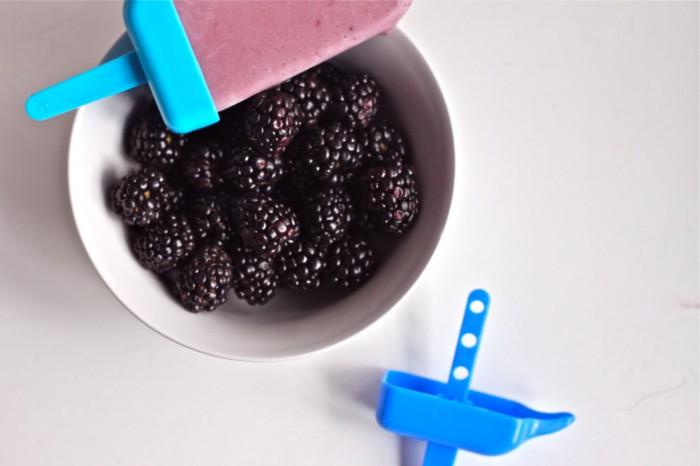Banana-Blackberry Yogurt Popsicles