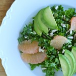 Shredded Kale Salad with Avocado & Grapefruit