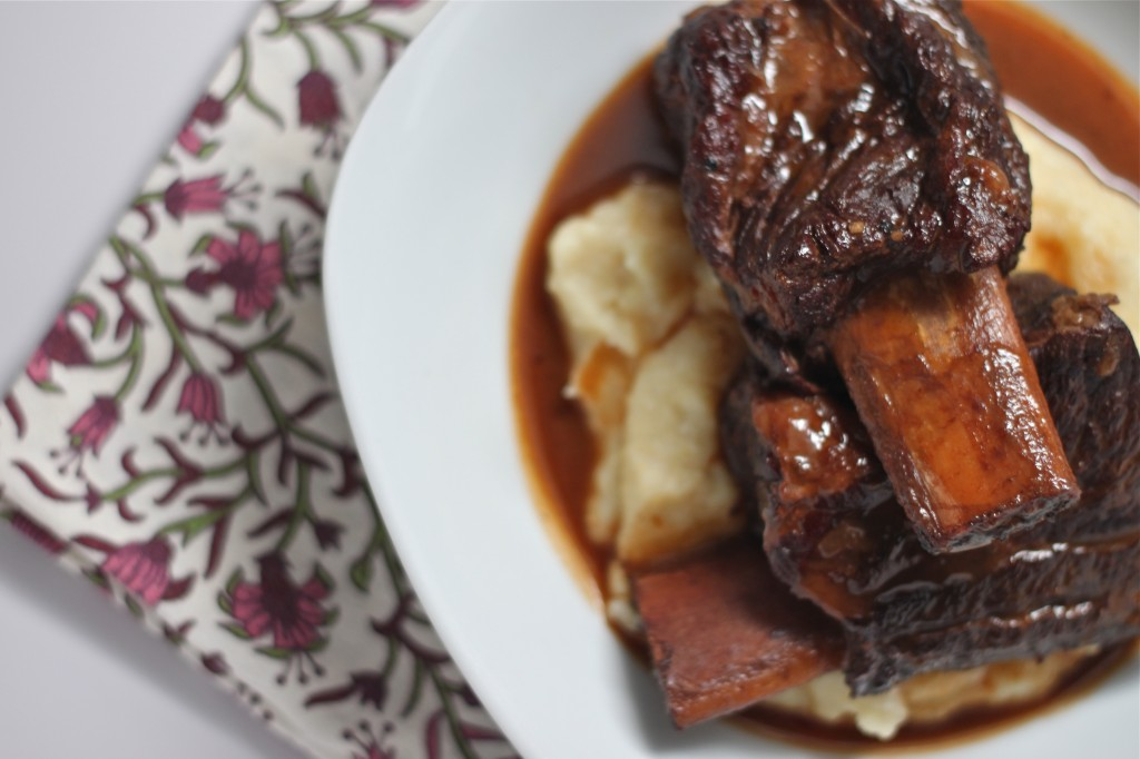The meat on these Slow Cooker Beef Short Ribs so tender it practically falls off the bone and melts in your mouth.