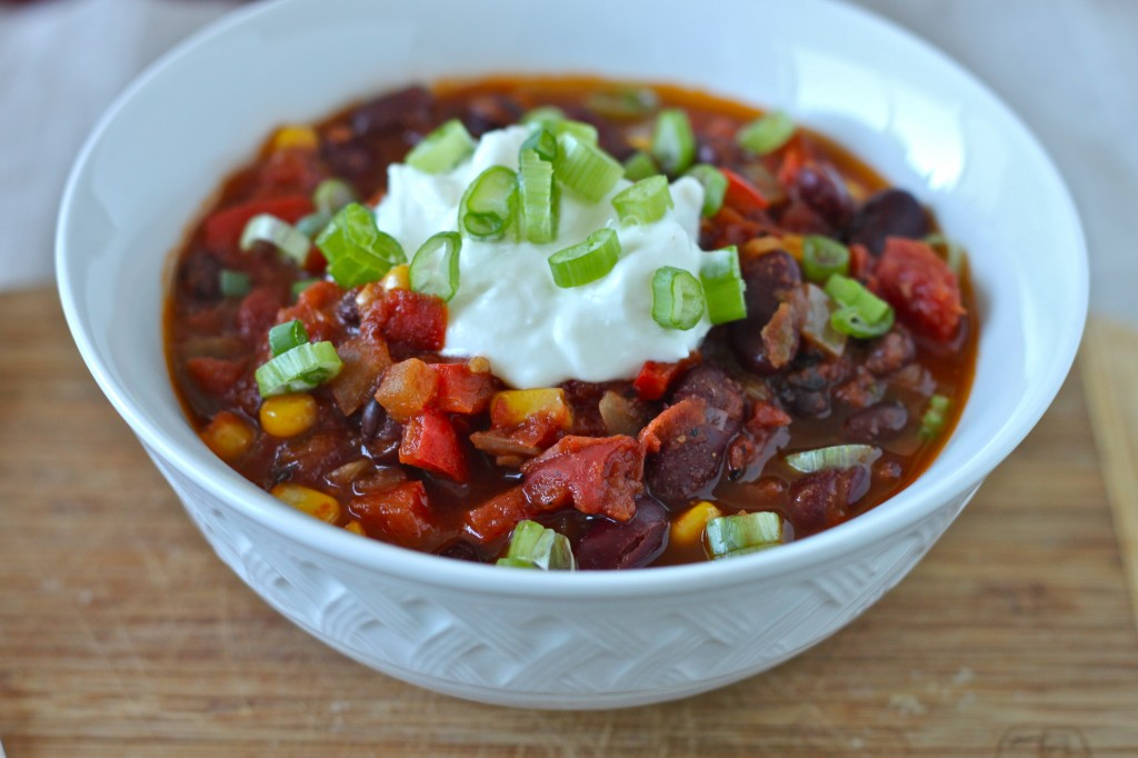 Quick and Easy Vegetarian Chili