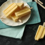 Mango Ginger Yogurt Popsicles