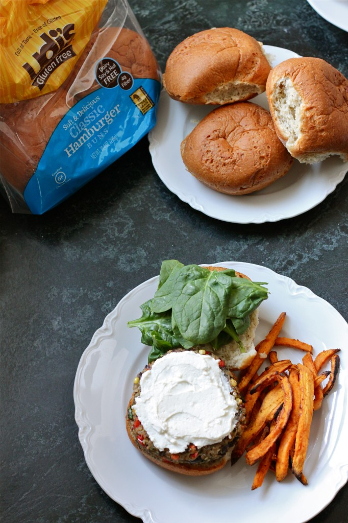 Quinoa Veggie Burgers with Whipped Feta