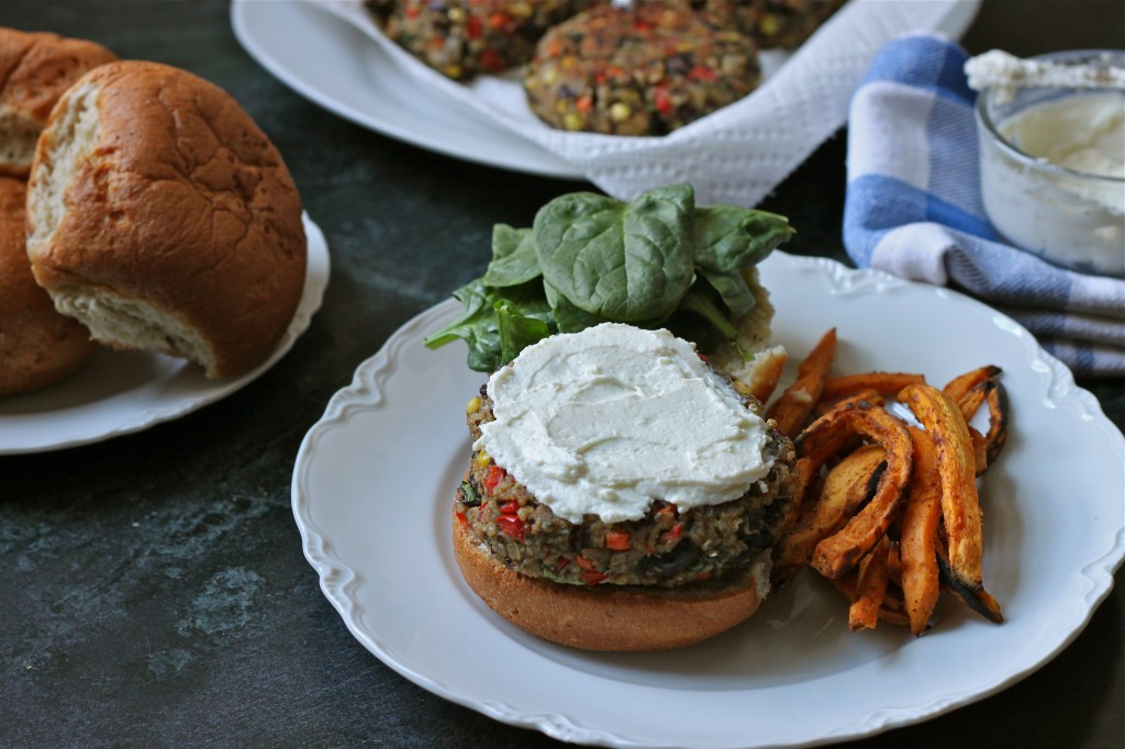 Packed with fresh veggies & black beans, these Quinoa Veggie Burgers shape up to be a meaty, nutritious protein-packed patty, that stays together until the last bite.