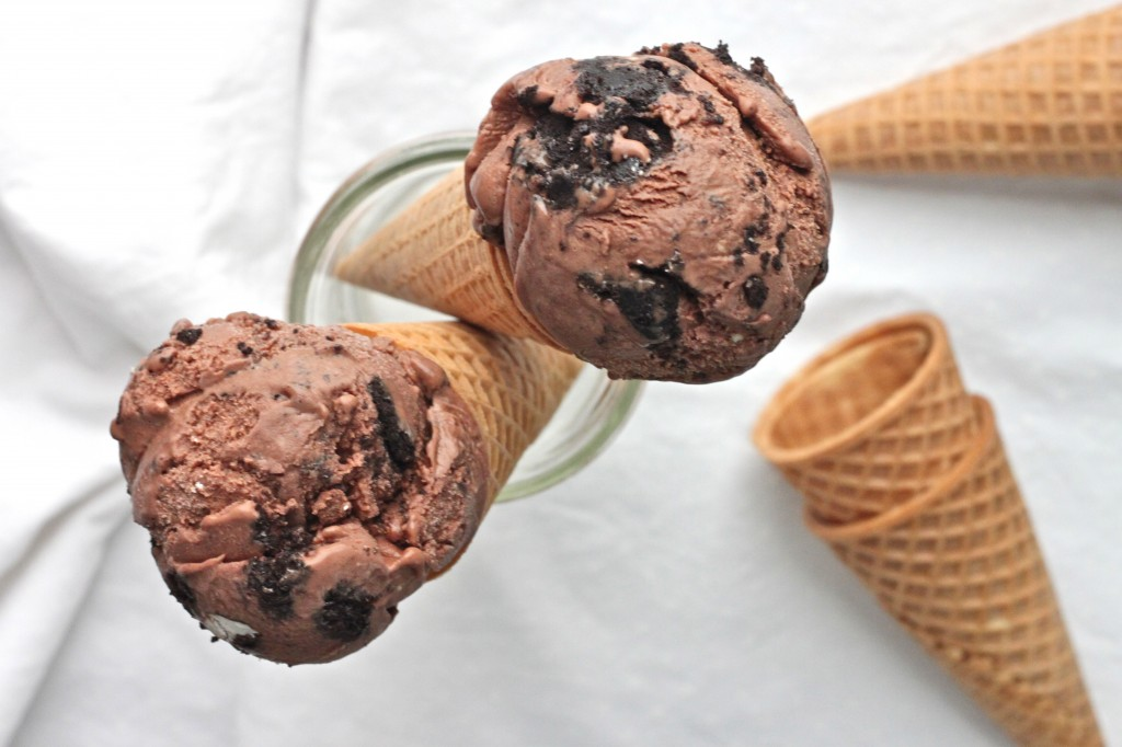 Dark Chocolate Cookies and Cream Ice Cream