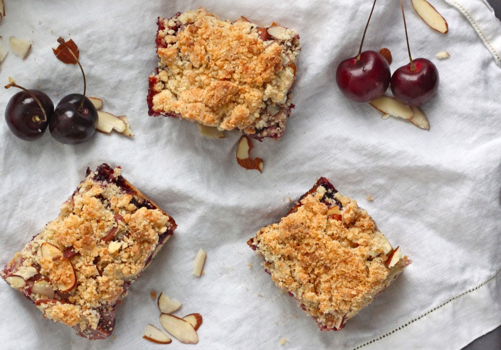 Cherry Almond Crumbs Bars - TheCornerKitchenBlog.com
