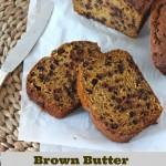 Brown Butter Pumpkin Chocolate Chip Bread