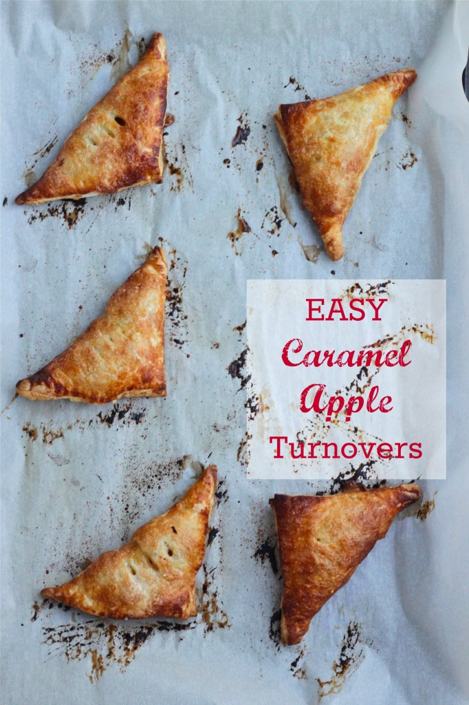 These Easy Caramel Apple Turnovers are a fun, easy to make dessert, that are always a crowd pleaser! | TheCornerKitchenBlog.com #apple #fallbaking