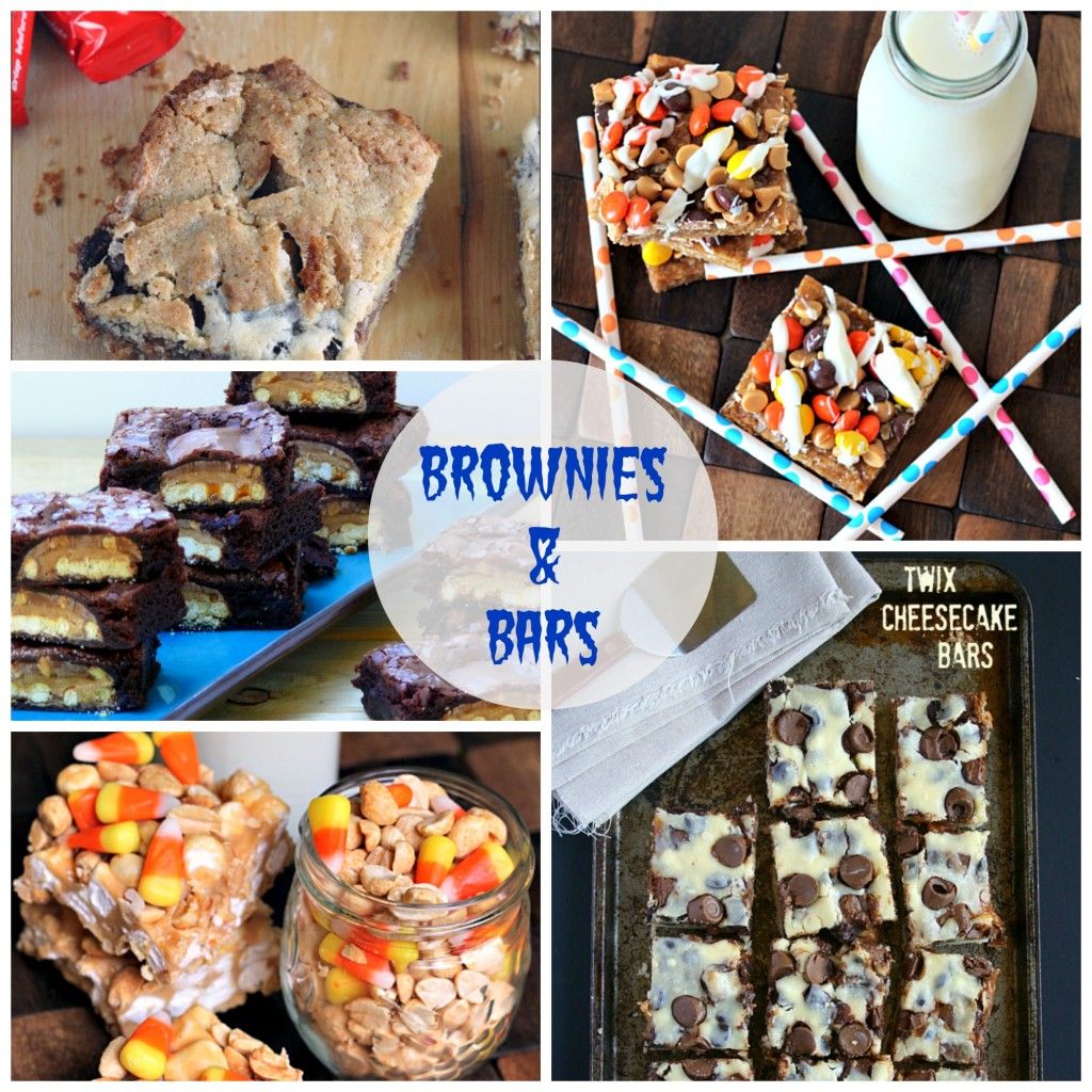 From brownies & bars to cakes & pies to cookies, cereal treats and cocktails...I'm sharing 60+ delicious recipes using leftover Halloween candy!| TheCornerKitchenBlog.com #halloween