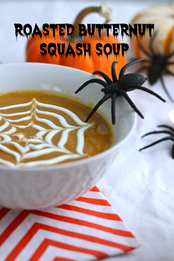 {Spiderweb} Roasted Butternut Squash Soup