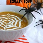 Roasted Butternut Squash {Spiderweb} Soup