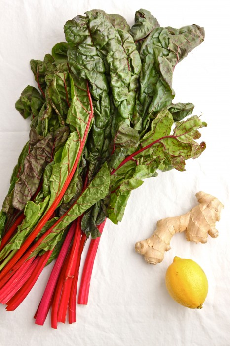 Sauteed Swiss Chard with Ginger