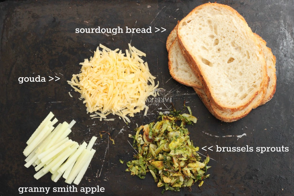 brussels sprouts grilled cheese ingredients