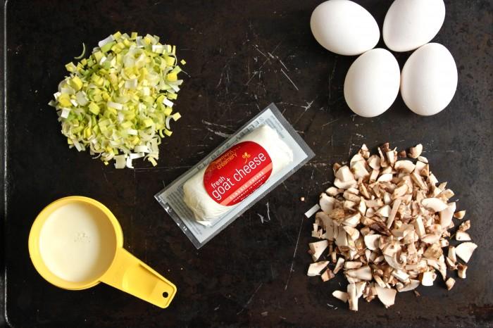 Mushroom, Leek and Goat Cheese Mini Quiche