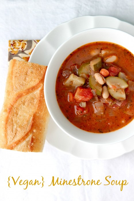 Minestrone is a traditional Italian soup that