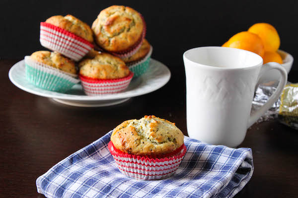 Move over lemon poppy muffins, Healthier Meyer Lemon Chia Seed Muffins are taking center stage! | TheCornerKitchenBlog.com #chia