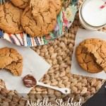 Nutella Stuffed Peanut Butter Cookies {Gluten Free}