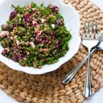 Freekeh and Shredded Kale Salad with Beets & Feta