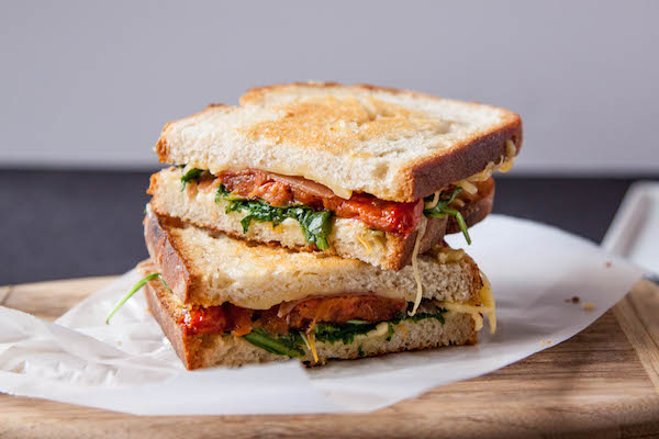 Grown Up BLT Grilled Cheese Recipe - The Corner Kitchen