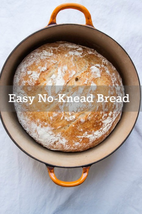 No Knead Bread is crispy on the outside, soft and pillowy on the inside, and extremely easy to make! | TheCornerKitchenBlog.com #recipe #bread