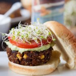 Meet the veggie burger of your dreams....Chipotle Black Bean Freekeh Sliders with Avocado Lime Crema! | TheCornerKitchenBlog.com #BurgerWeek #freekeh #veggieburger