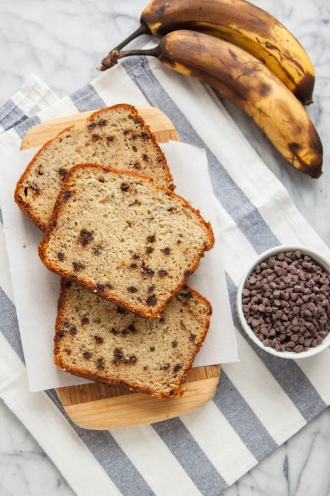 Any day that starts Brown Butter Banana Chocolate Chip Bread is bound to be a good one! | TheCornerKitchenBlog.com