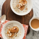 Cracked Freekeh Porridge with Maple Roasted Pears and Cardamom