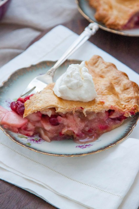 Cranberry-Apple Pie with Maple Whipped Cream