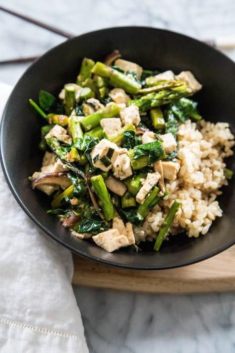 Asparagus & Shiitake Stir-Fry