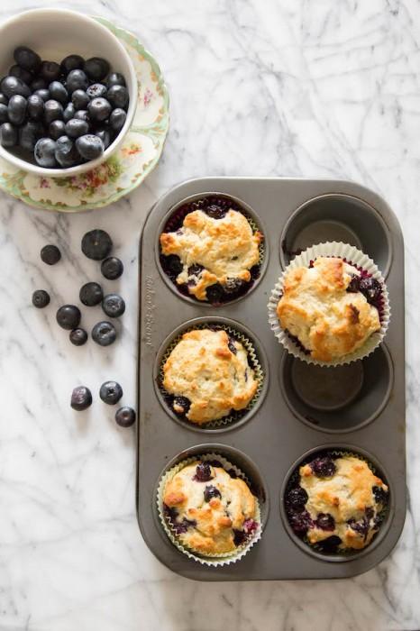 Healthier Blueberry Muffins