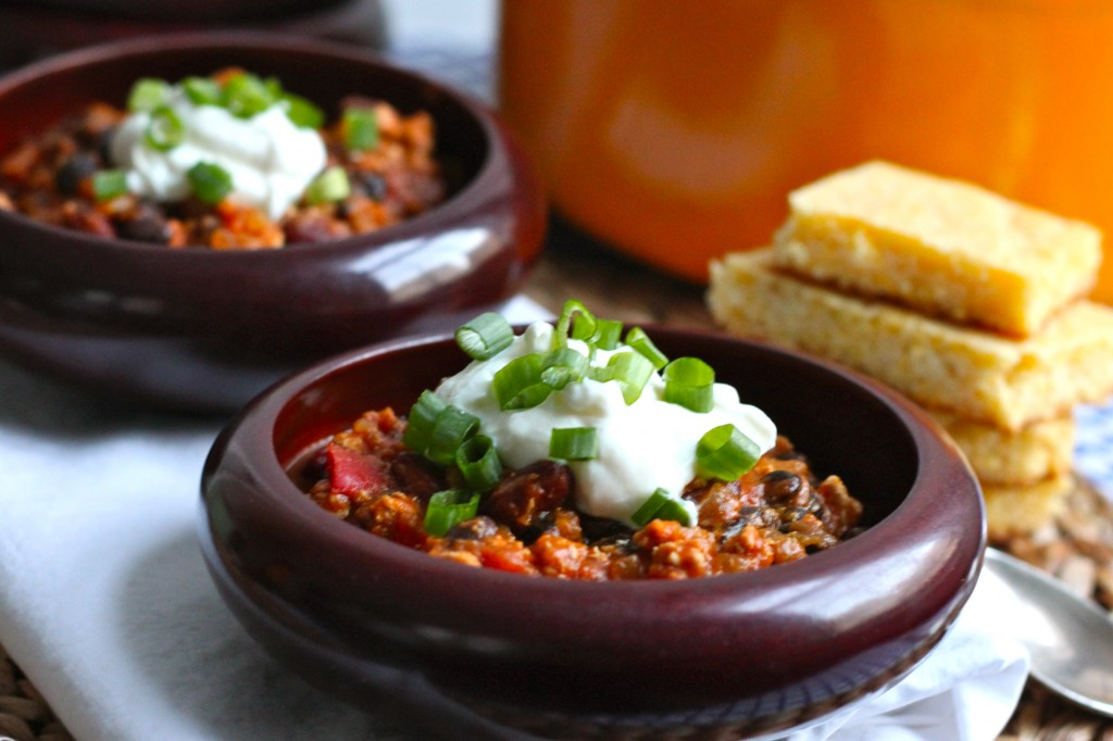 Turkey Pumpkin Chili | The Corner Kitchen Blog
