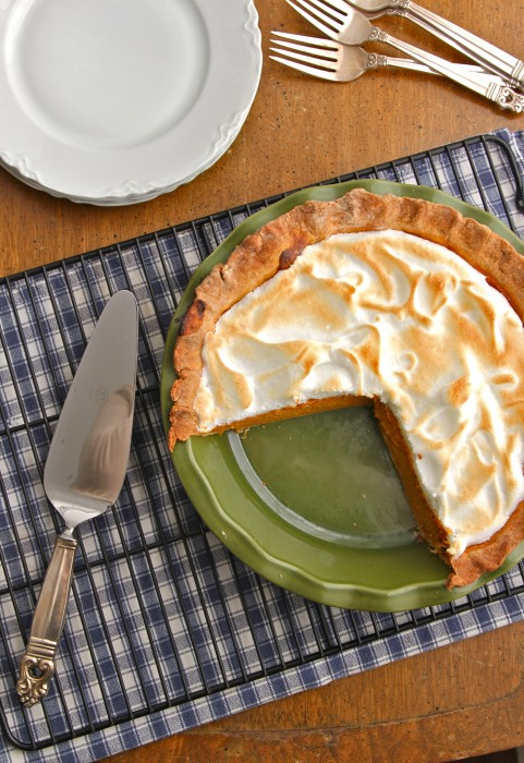 Pumpkin Meringue Pie is a classic Thanksgiving favorite with a fun twist! | TheCornerKitchenBlog.com #pumpkin