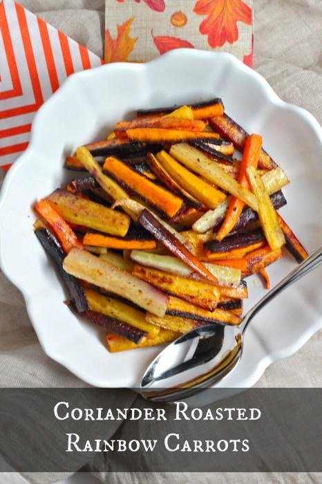 Coriander Roasted Rainbow Carrots